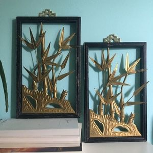 BAMBOO INSPIRED ART FRAMES SET OF 2